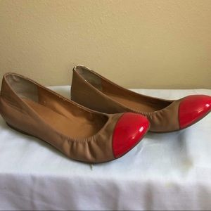 J-Crew  leather Flats Size 8